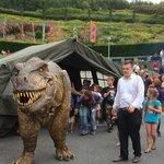Dinosaur walkabout at basecamp :-)
