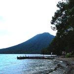 イタリア大使館別荘から望む男体山