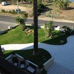 vista da balcone zona verde
