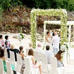 Our wedding, it was beautifully setup at the private beach cove