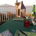 Cena in terrazza con vista