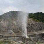 Sulphuric hot spring