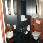 Bathroom - basin and toilet side.