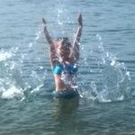 Море было очень теплым
