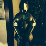 Suit of armour in lobby