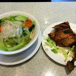 Deep Fried Chicken Flat Rice Noodle Soup - small serving