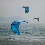 Kite surfing at Ponta d'Ouro