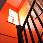 Dramatically painted stairwell