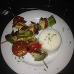 chicken kebab with sweet chilli sauce