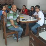 Having Brunch at Ram Babu Parathe Wala, Agra