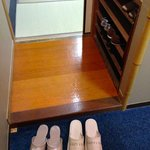 Slippers for use outside the room