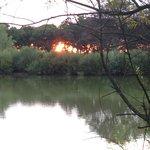 Sunset at Sopley Lake.