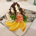 Delicious hazelnut cake.