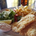 Excellent fish and chips at the Pub