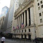 Wall Street sede Borsa Finanziaria..
