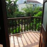 Blick vom Schlafzimmer zur Terrasse.