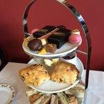 Beautiful edible gold afternoon tea
