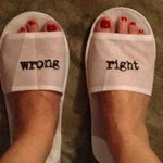 When i wore their slippers and made me smile. Really.:)