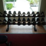 Gym(dumbells from 2kg to 20kg. 2kg increment.)