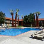 schönes Außenschwimmbecken
