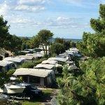 la vue camping/mer