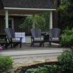 Relax in Style overlooking the Koi Pond...
