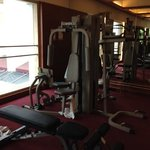 """Gym with towels """"distributed"""" on the floor and no staff in place"""