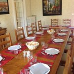 The communal dining table