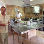 Owner René and Chef Régis in the kitchen