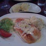 Salmon with mash