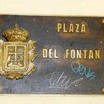 placa plaza del Fontán