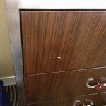 Old worn furnishings in room...4 star hotel???