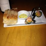 complimentary bread plate delivered and a chef's sampler