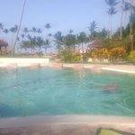 Quieter pool behind main pool