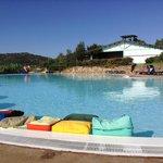 piscina con acqua di mare
