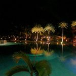Pool View at night