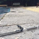 dilapidated pool area at Wentworth House