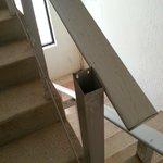 The broken railing