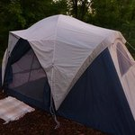 Tent on site.
