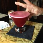 Beet and ginger martini