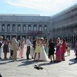 Italian wedding in the square