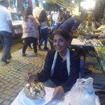 Eating the Kumpir at Ortakoy Square