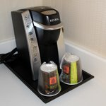 Keurig for coffee/tea in the room
