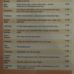 real ale menu at red lion
