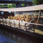 The Gastropub's dock which is open in summer