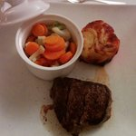 Beef filet with vegy and potatoes