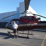 Our pilot & helicoptor