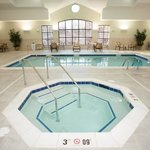 Relax in the hot tub at the Montgomeryville Staybridge Suites