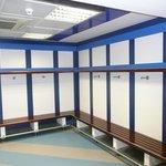Away dressing room