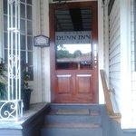 The front door of the hotel